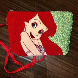 Handbags - Disney little mermaid Ariel terry cloth purse bag